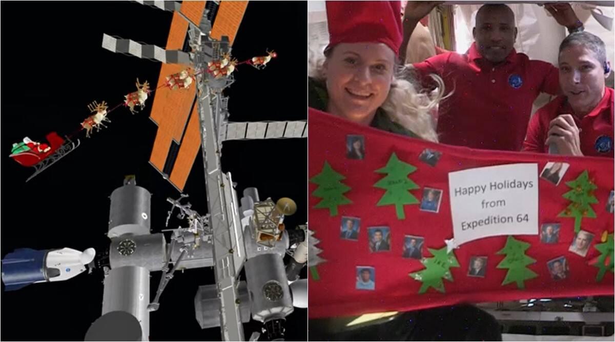 Guarda: quando gli astronauti sulla Stazione Spaziale Internazionale celebrano il Natale nello spazio e Babbo Natale li visita